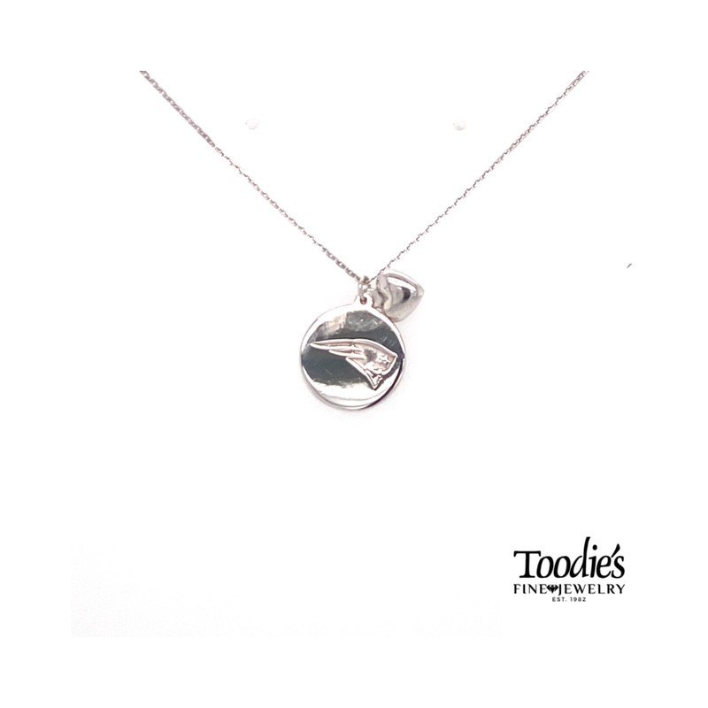 Toodie's Signature Fashion New England Patriots Disc Necklace