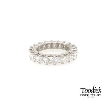 *Howie's Pick* Platinum Princess Cut Eternity Band