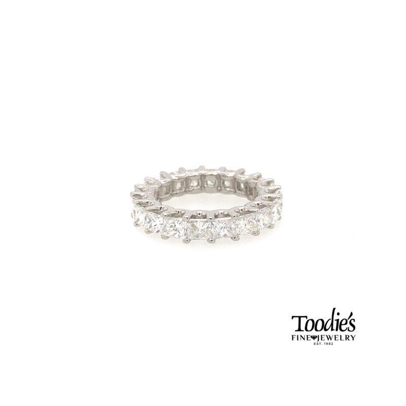 Toodie's Signature Fashion *Howie's Pick* Platinum Princess Cut Eternity Band