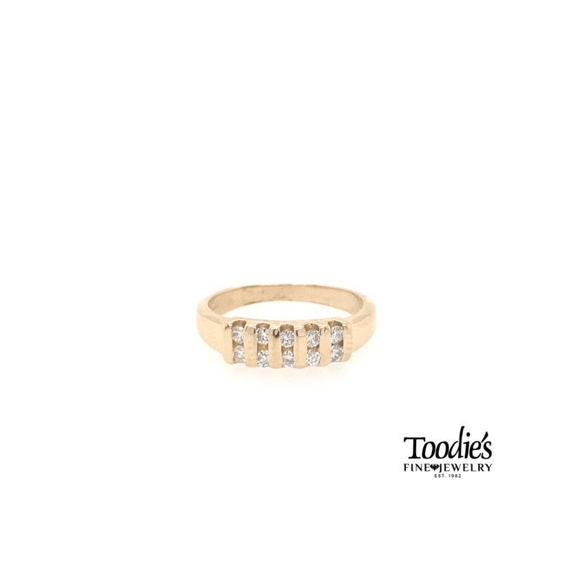 Toodie's Signature Fashion Double Row Bar Set Diamond Band