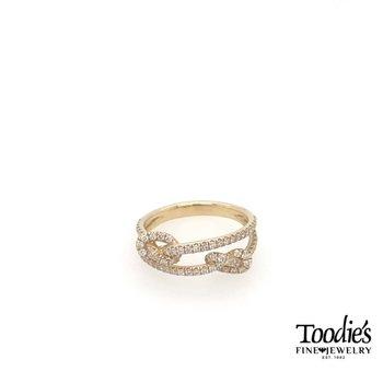 Diamond Double Knot Ring