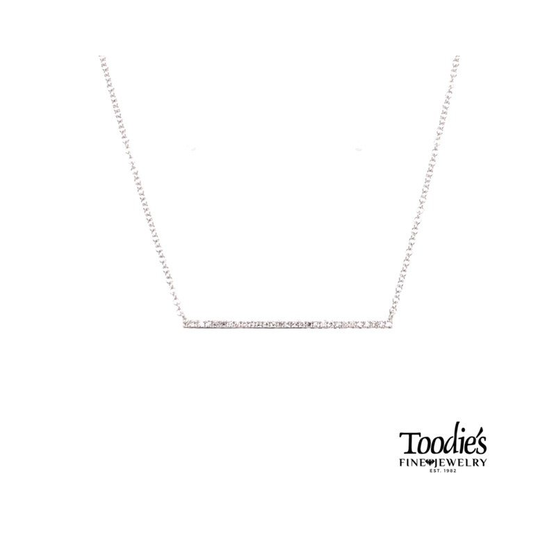 Shy Creation Diamond Bar Necklace