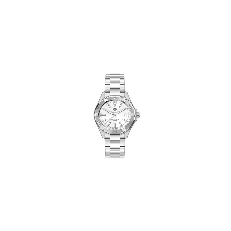 TAG Heuer Ladies Aquaracer Watch with White Mother of Pearl Dial.