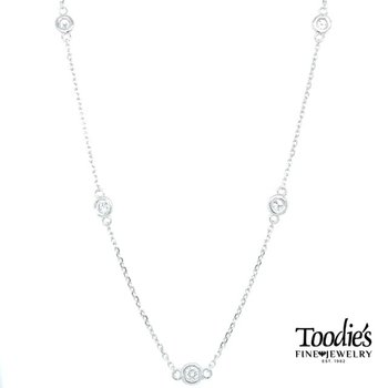 1 1/5 Carat Diamonds by the Yard Necklace