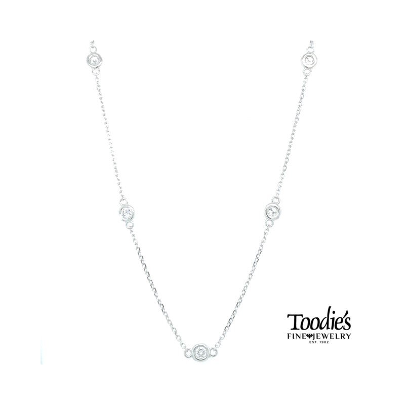 Toodie's Signature Fashion 1 1/5 Carat Diamonds by the Yard Necklace