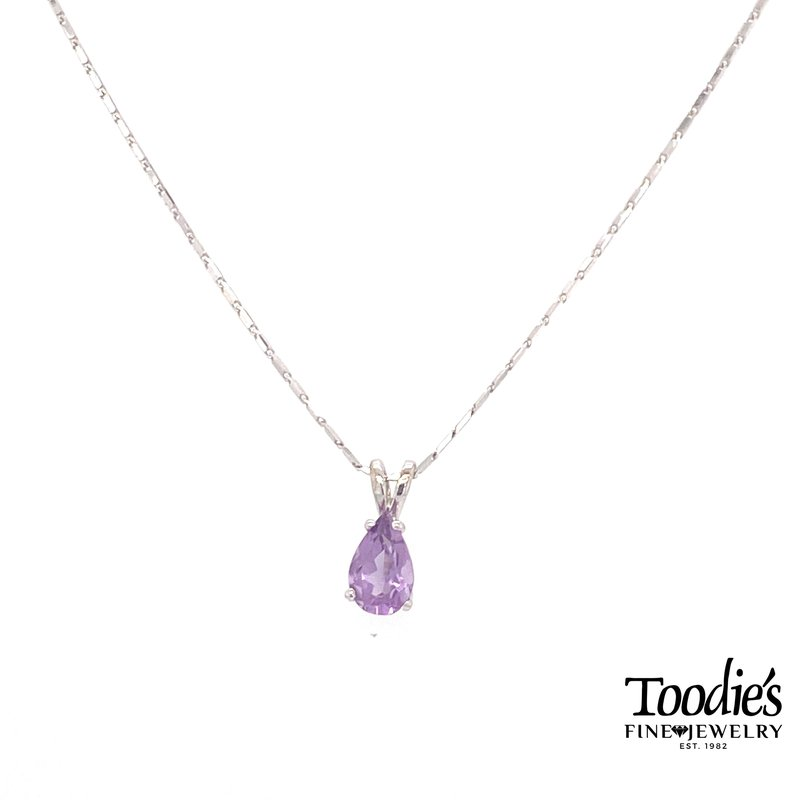 Toodie's Signature Fashion White Gold Amethyst Necklace