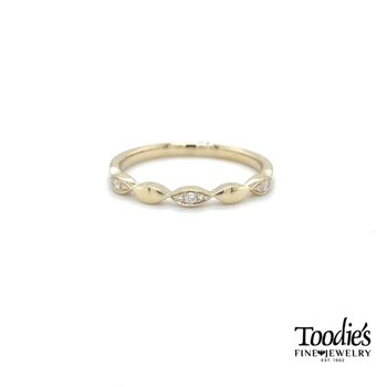 Marquise Diamond Stackable Band