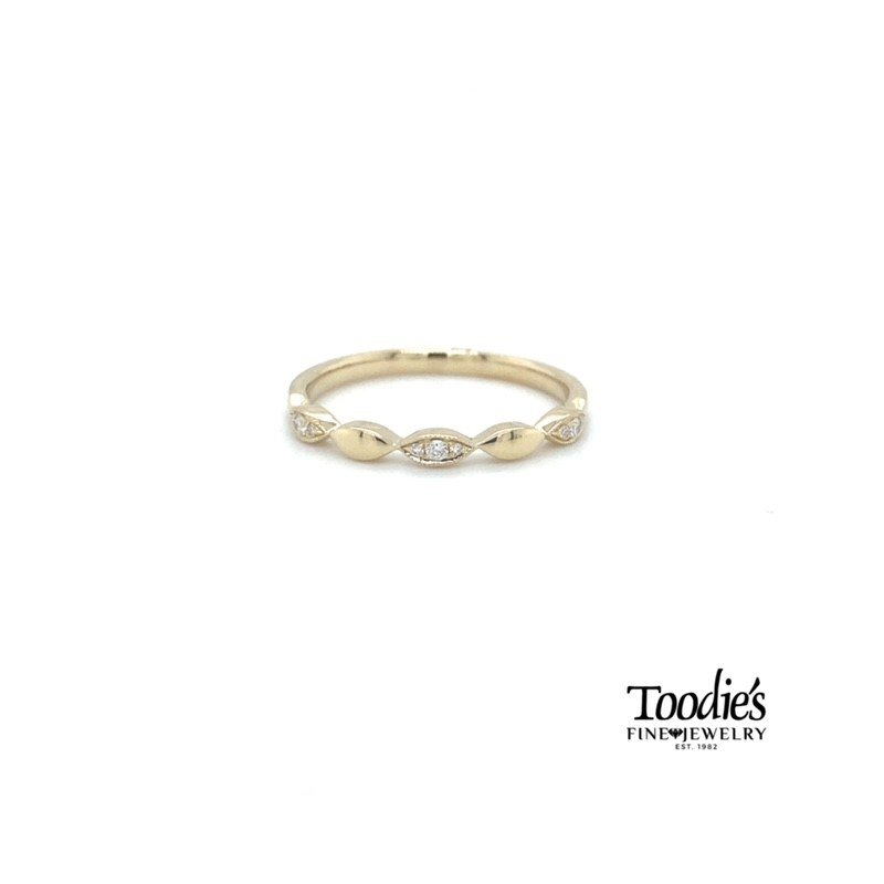 Shy Creation Marquise Diamond Stackable Band