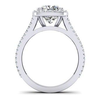 OMG Series Split Shank Cushion Shaped Diamond Engagement Ring