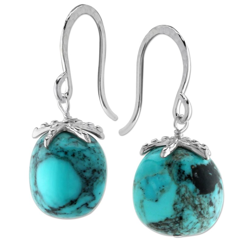 Elisa Ilana Turquoise Drop Earrings