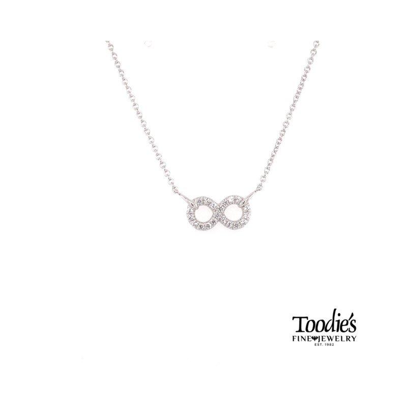 Gabriel Fashion White Sapphire Infinity Neckace