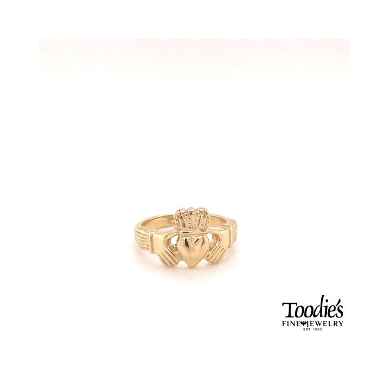 Toodie's Signature Fashion Yellow Gold Claddaugh Ring