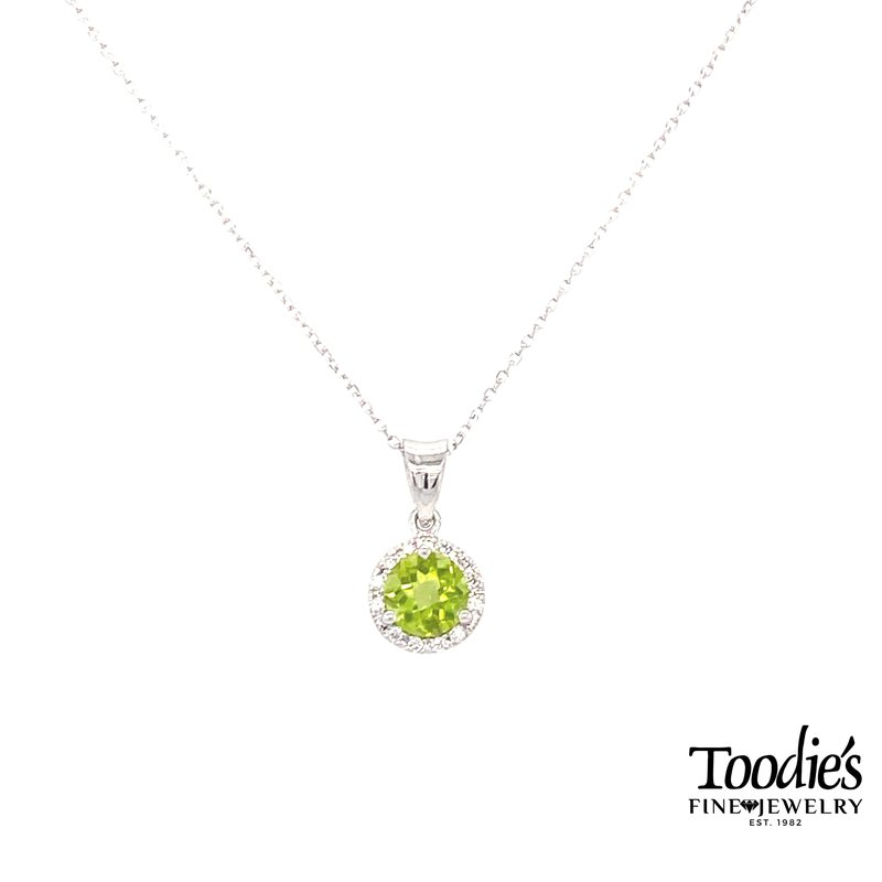 Toodie's Signature Fashion Peridot And Diamond Necklace