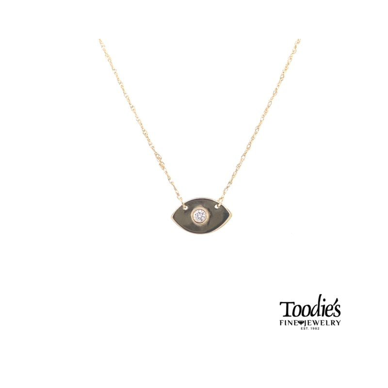 Toodie's Signature Fashion Evil Eye Diamond Necklace