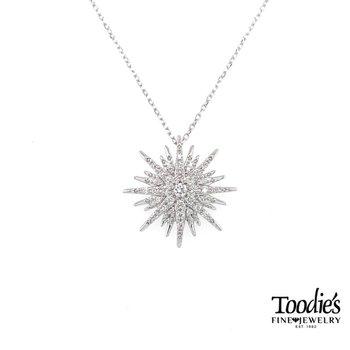 Diamond Starburst Necklace