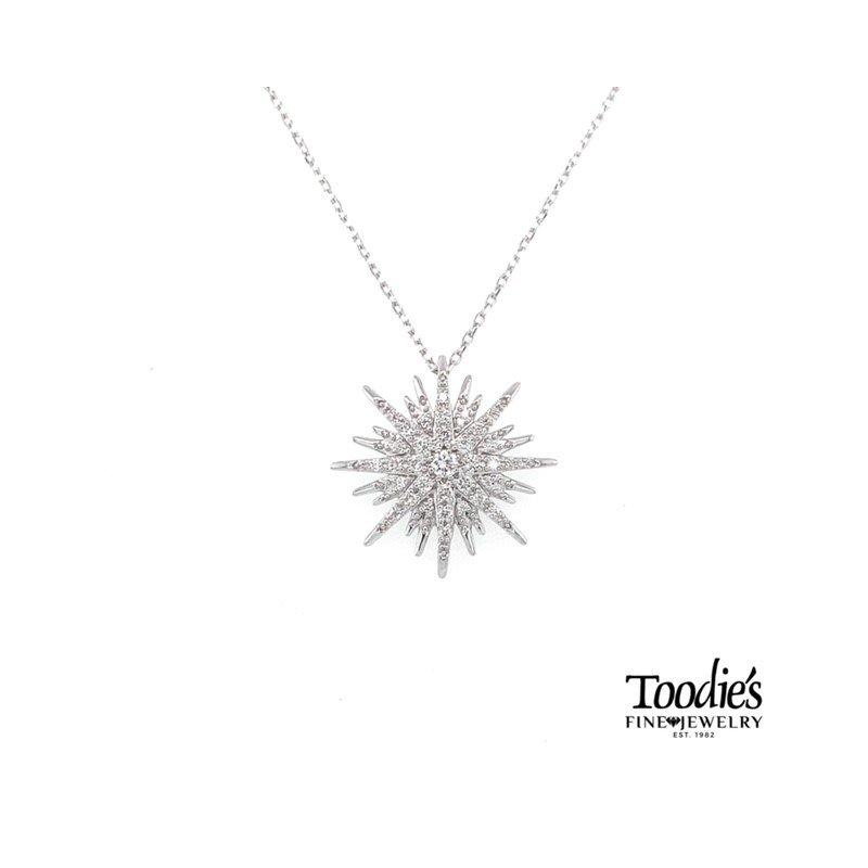 Toodie's Signature Fashion Diamond Starburst Necklace