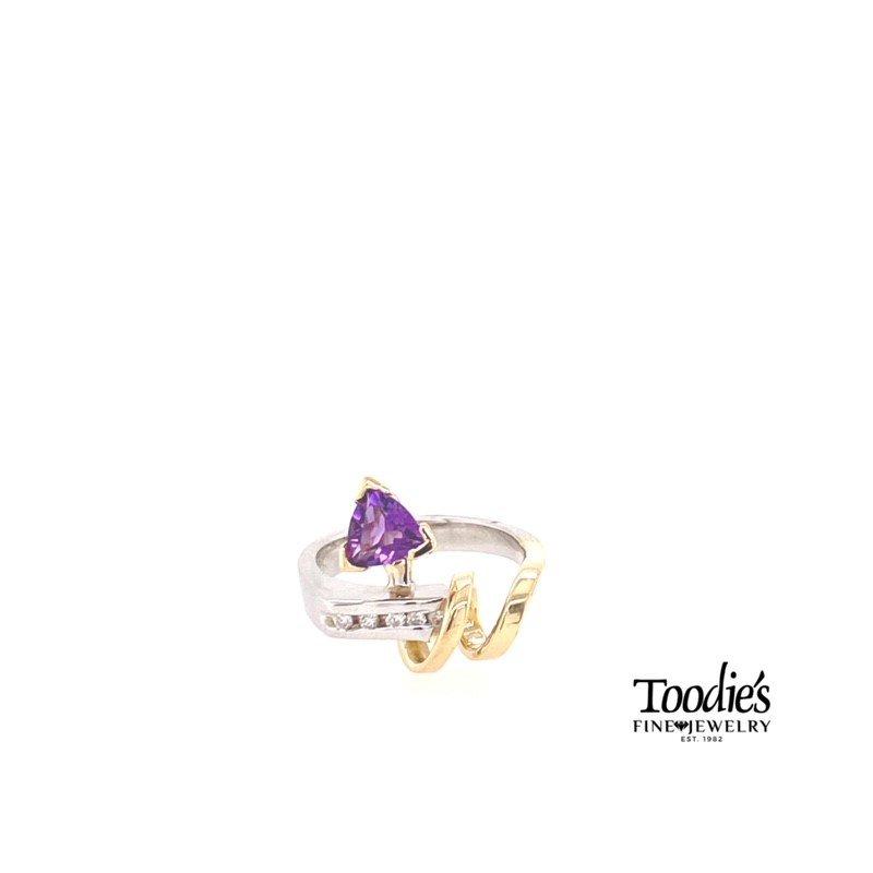 Toodie's Signature Fashion Trillion Amethyst Swirl Ring