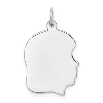 Engravable Baby Girl Charm