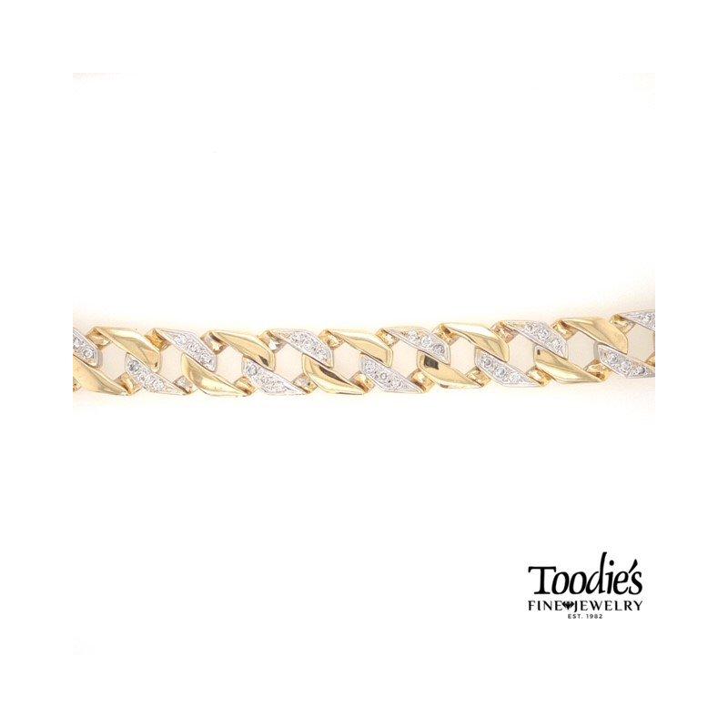 Toodie's Signature Fashion Diamond Curb Link Bracelet