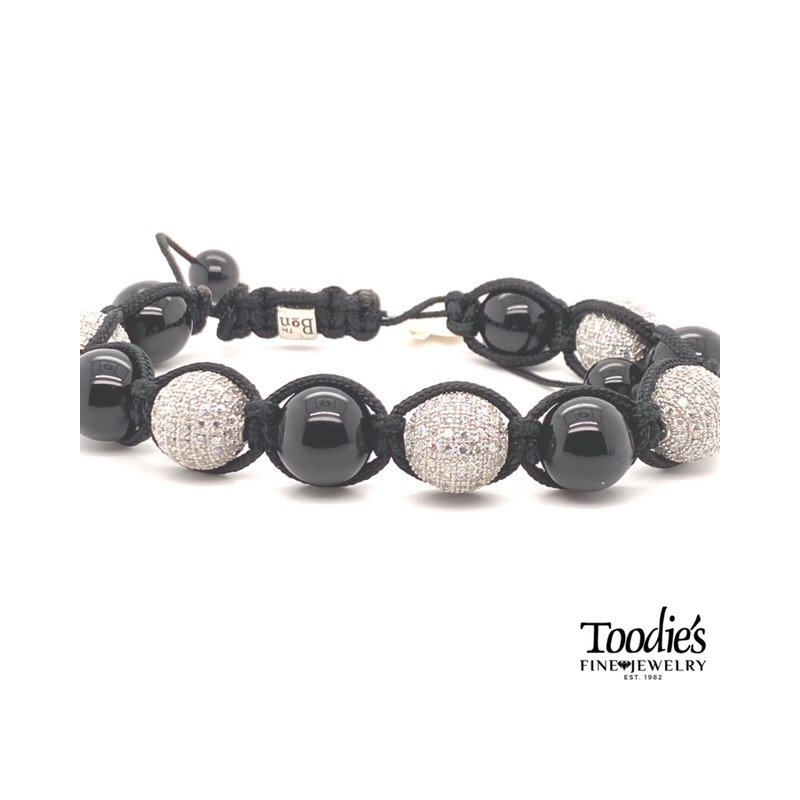 Toodie's Signature Fashion Cubic Zirconia Pave Set Bead Bracelet