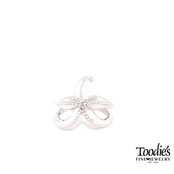 Diamond Fashion Starfish Ring