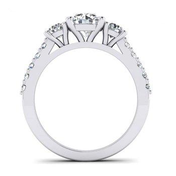 Three Stone Style Engagement Ring
