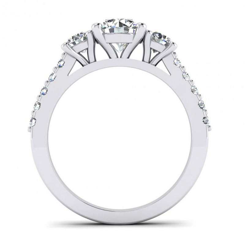 Toodie's Bridal Three Stone Style Engagement Ring