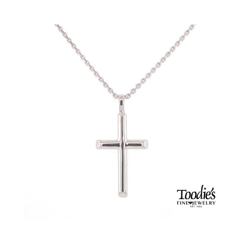 Toodie's Signature Fashion Half Round Cross Necklace