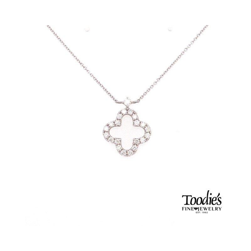 Toodie's Signature Fashion Clover Design Diamond Pendant