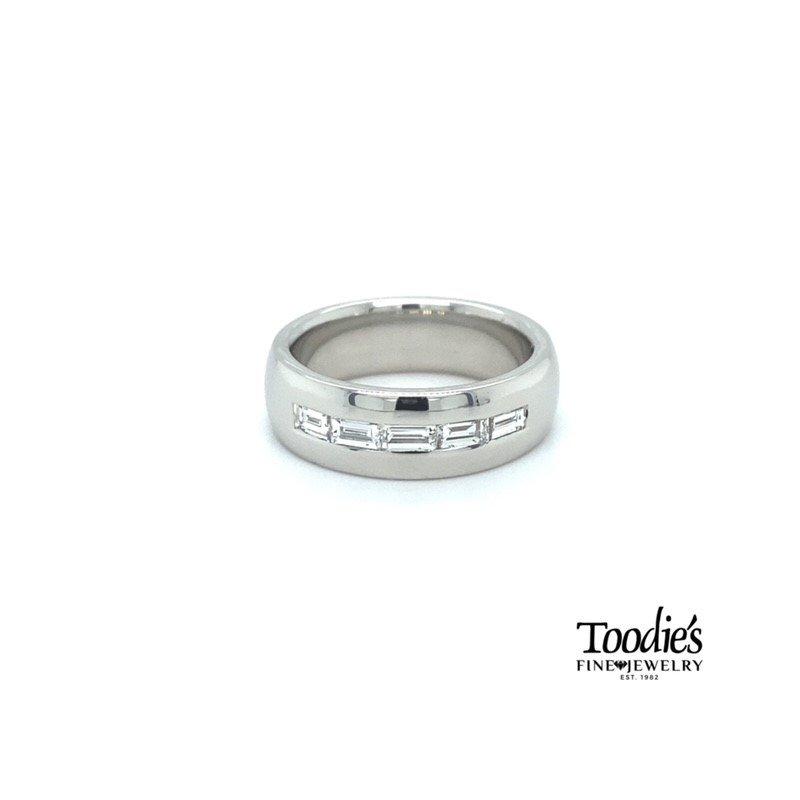 Toodie's Signature Fashion Diamond Baguette and Platinum Band