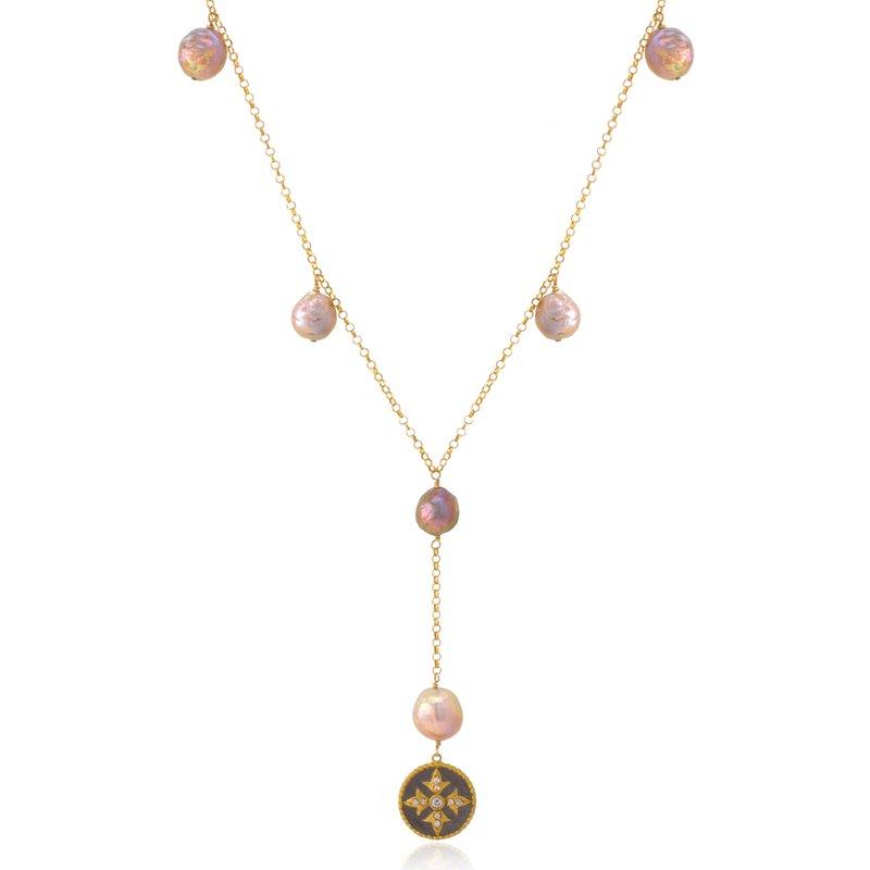 Elisa Ilana Fancy Pearl Drop Necklace