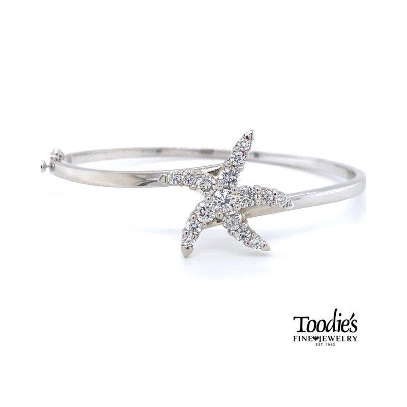 Diamond Starfish Collection Starfish Bangle