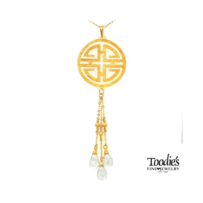 Toodie's Signature Fashion Yellow Gold Symbol Necklace