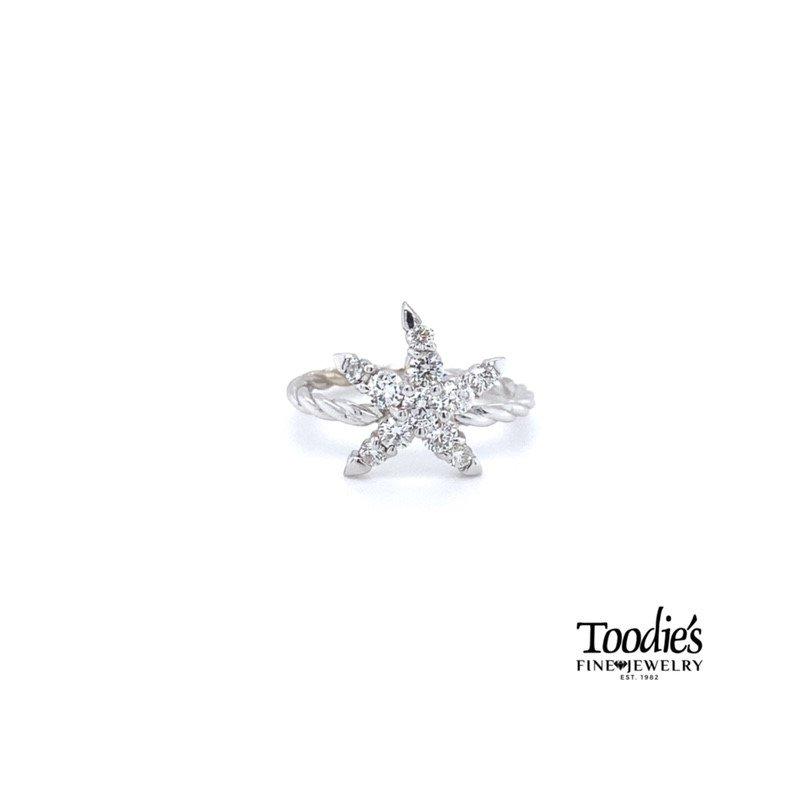 Diamond Starfish Collection Starfish Ring