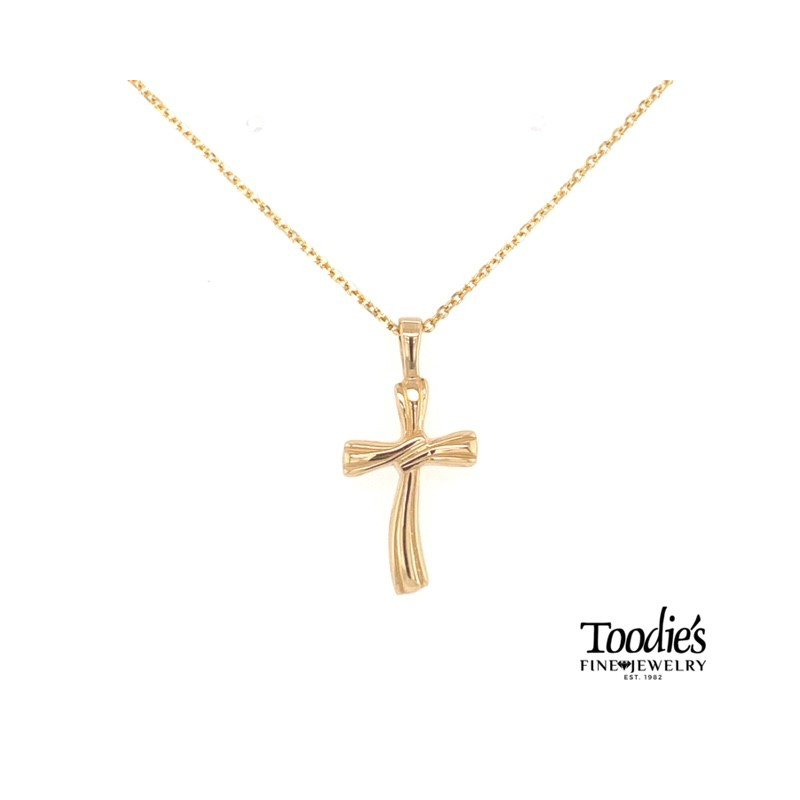 Toodie's Signature Fashion Gold Wave Cross Necklace
