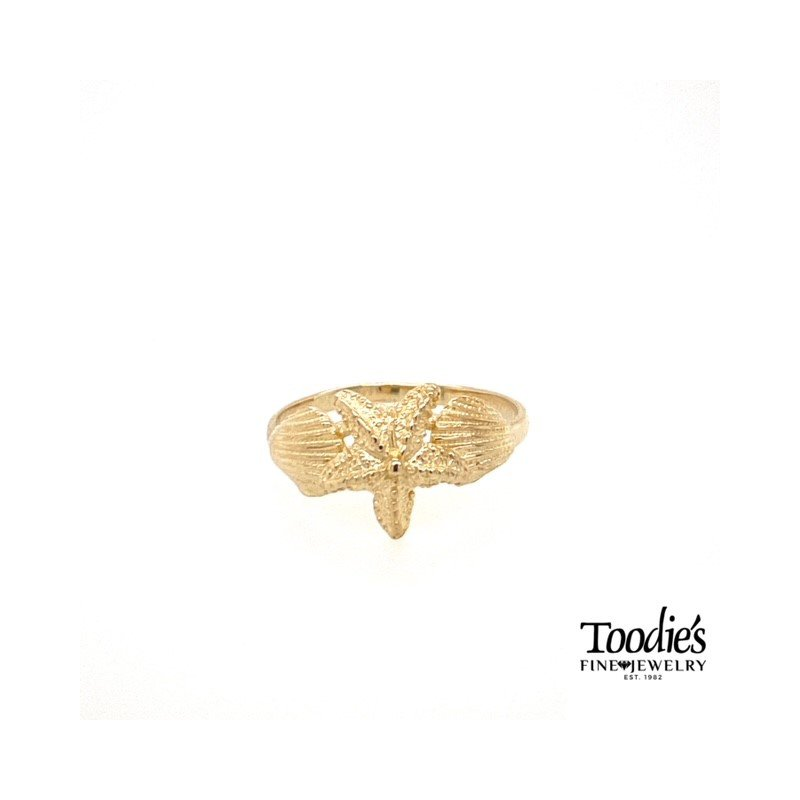 Toodie's Signature Fashion Shell and Starfish Ring