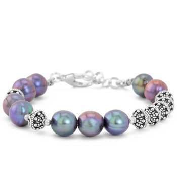 Gray Pearl And Sterling Silver Bracelet