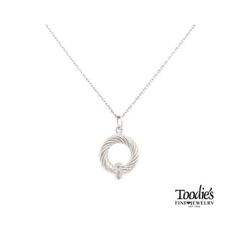 Phillip Gavriel Diamond Pendant Necklace