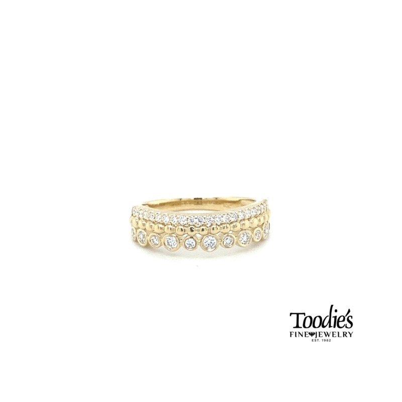 Toodie's Signature Fashion Triple Row Stack Style Diamond Band