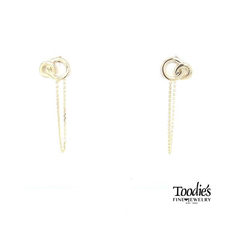 Toodie's Signature Fashion Interlocking Circle Studded Earrings