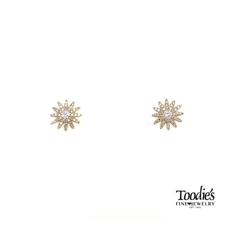 Shy Creation Diamond Starburst Earrings
