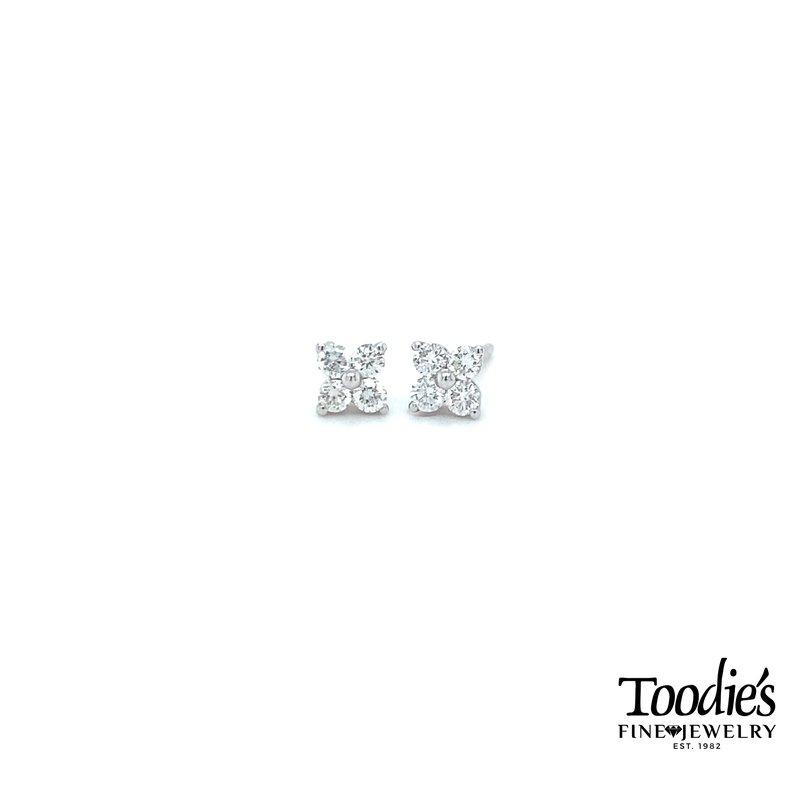 Toodie's Signature Fashion Cluster Diamond Studded Earrings