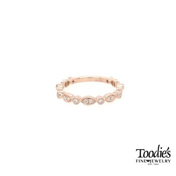 Rose Gold Round and Marquise Shaped Stackable
