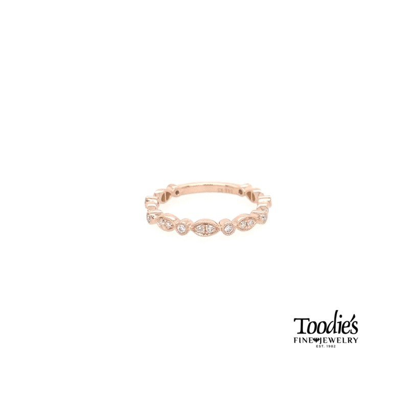Toodie's Signature Fashion Rose Gold Round and Marquise Shaped Stackable
