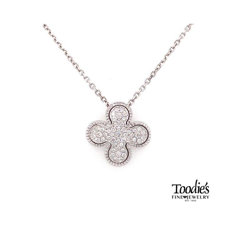 Toodie's Signature Fashion Quattrefoil Pave Diamond Pendant