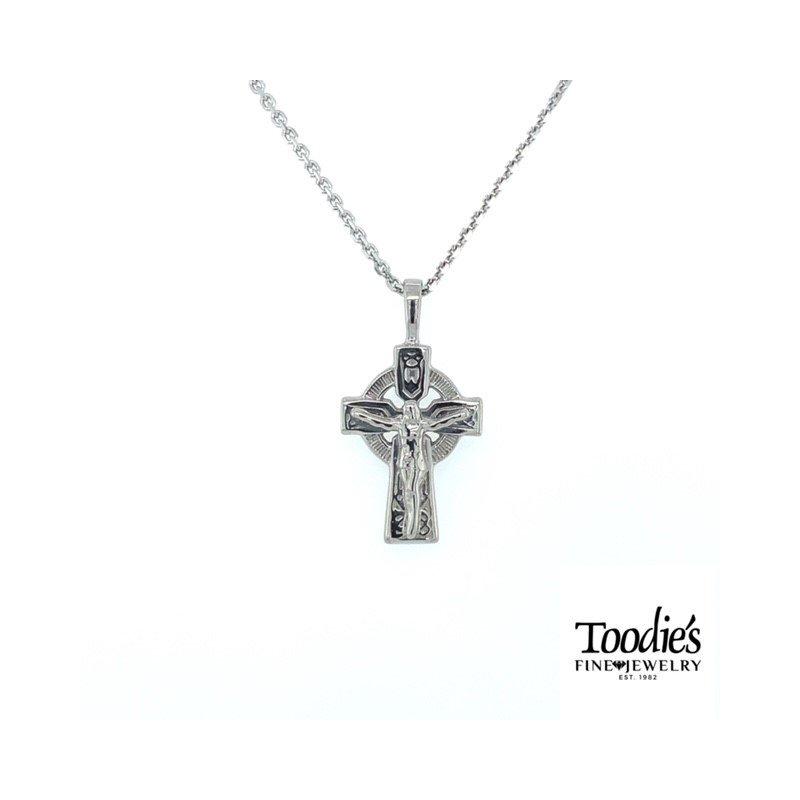 Toodie's Signature Fashion Small Celtic Crucifix Necklace