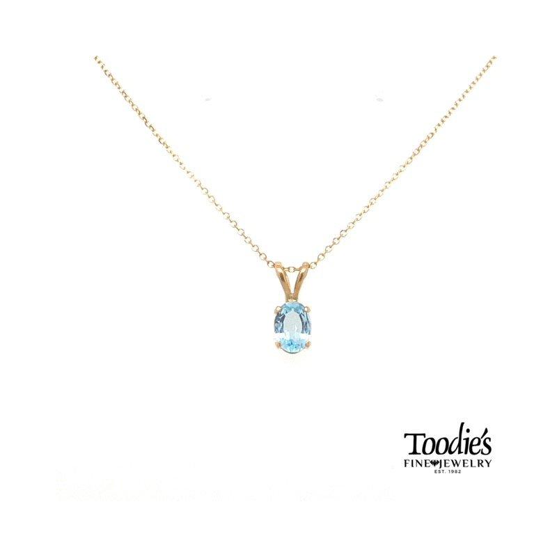 Toodie's Signature Fashion Yellow Gold Aquamarine Necklace