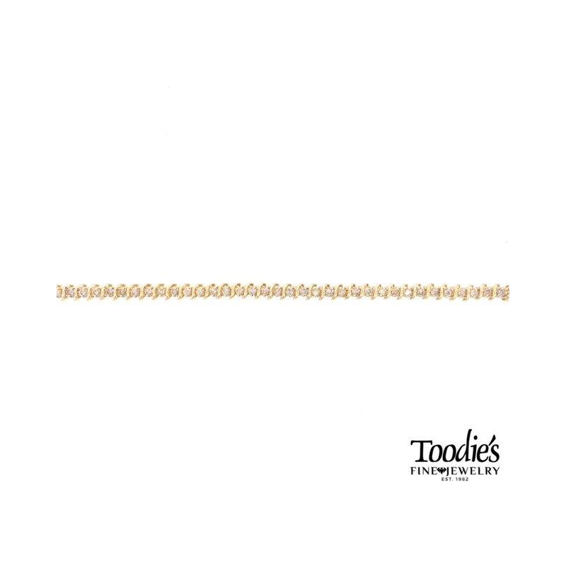 Toodie's Signature Fashion Vintage S-Link Diamond Tennis Bracelet