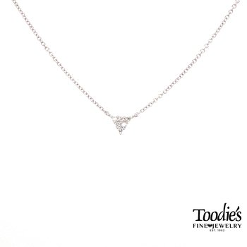 Triangular Diamond Cluster Necklace