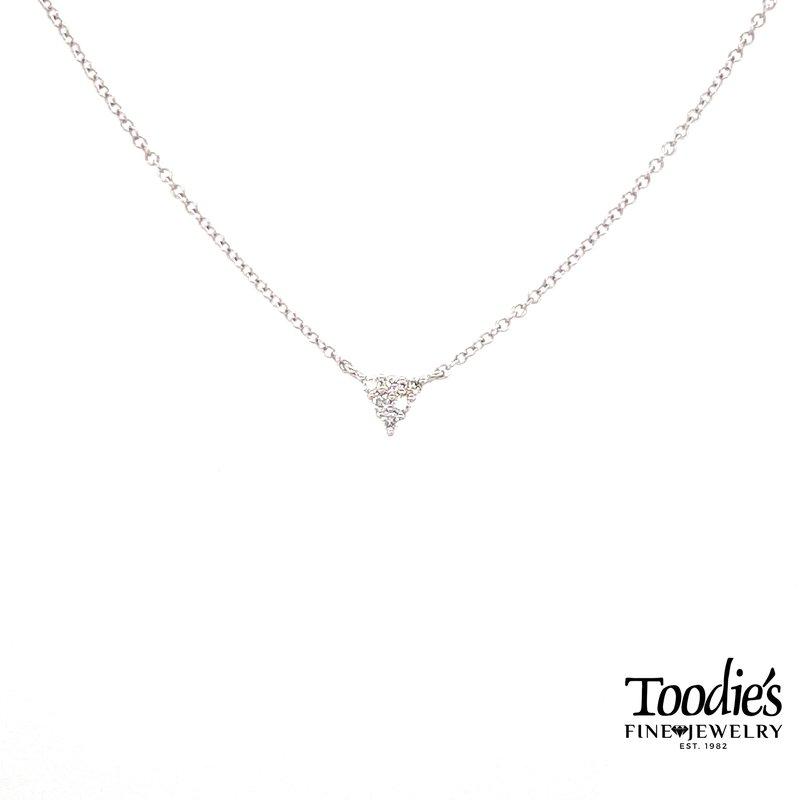 Toodie's Signature Fashion Triangular Diamond Cluster Necklace